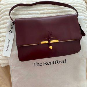 Authentic Celine Medium Shoulder Burgundy Bag